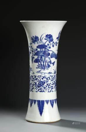 Chinese Blue and White Beaker Vase