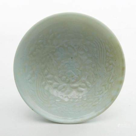 Chinese Qing Sung Style Porcelain Bowl in Silk Box