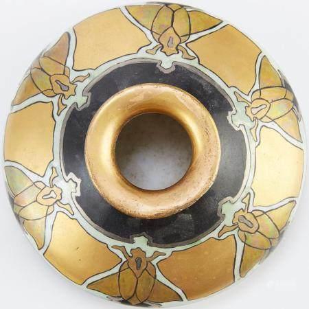 Viennese Porcelain Vase w/ Beetles