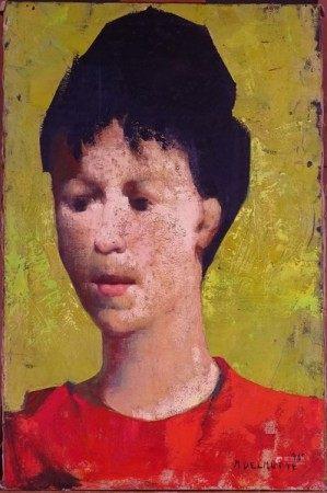 Tableau HST -Portrait de femme- daté 1965 signé *DELMOTTE M.* (Marcel) (1901, 1984) [...]