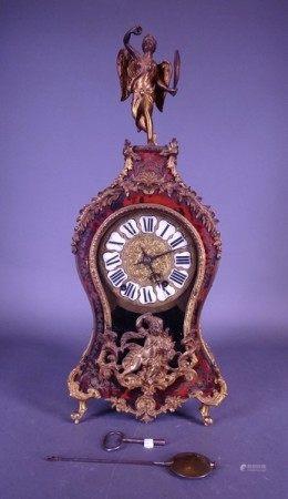 Horlogerie: Pendule marqueterie de style Boulle NAPIII placage écaille et [...]