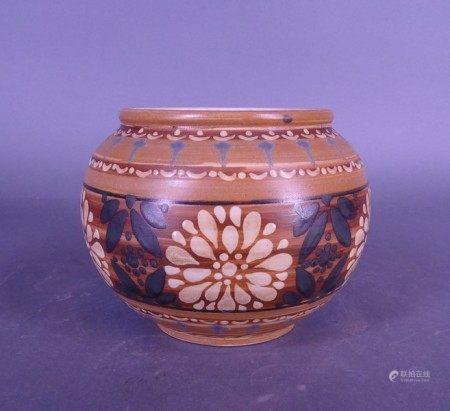 Céramique: Vase en grès Kéramis D.651 circa 1920 marqué H.L. H:24cm émaux de [...]