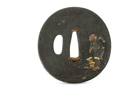 A JAPANESE IRON TSUBA.