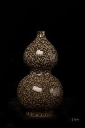 宋代哥窑葫芦瓶