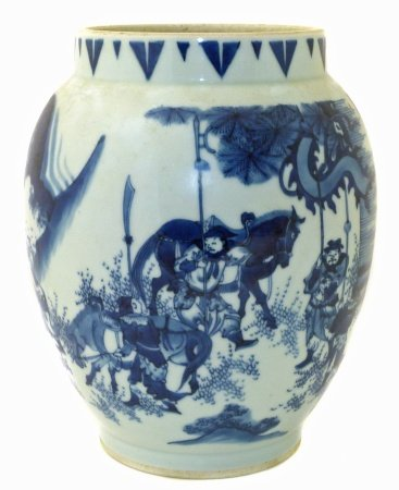 21st Century copy of mid 17th century transitional style jar, (Fu zhi pin (复制品) We are unable to