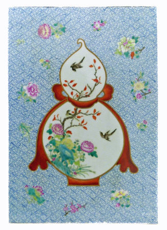 21st Century large Chinese tile (Fu zhi pin (复制品) We are unable to do condition reports for this