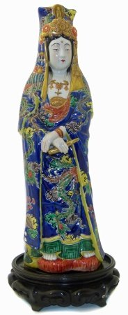 Japanese Imari porcelain figure, late 19th century, early 20th century on new machine stand We are