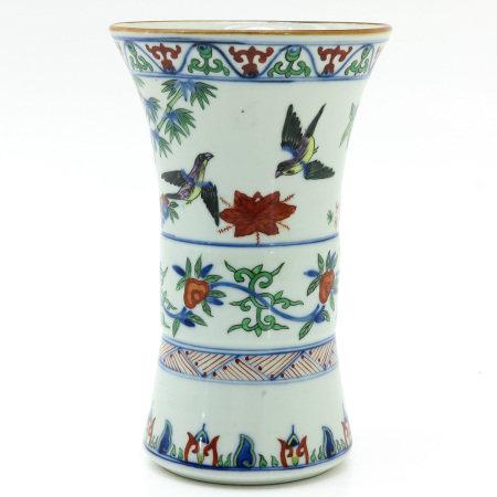 A Chinese Famille Verte Gu Vase