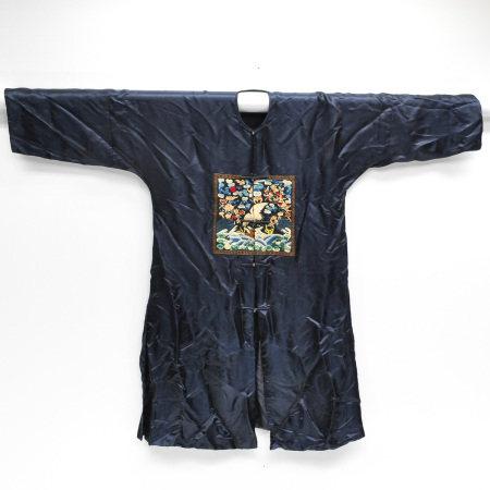 A Chinese Mandarin Silk Enbroidered Robe