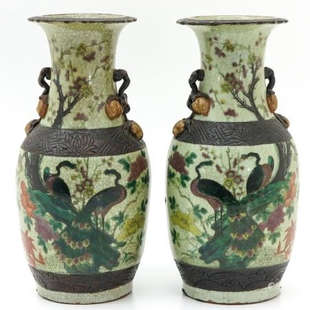 Two Chinese Nanking Vases