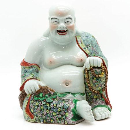 A Chinese Hotai Sculpture