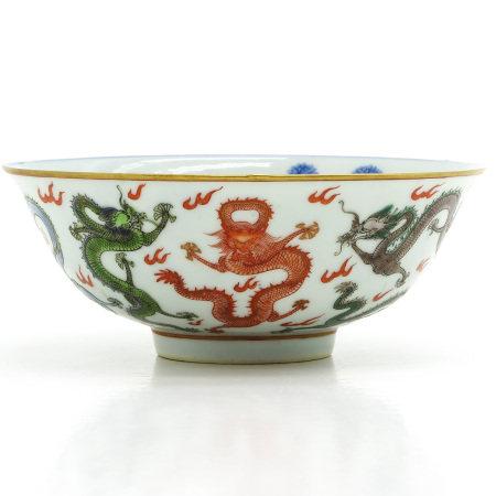 A Polychrome Decor Chinese Bowl