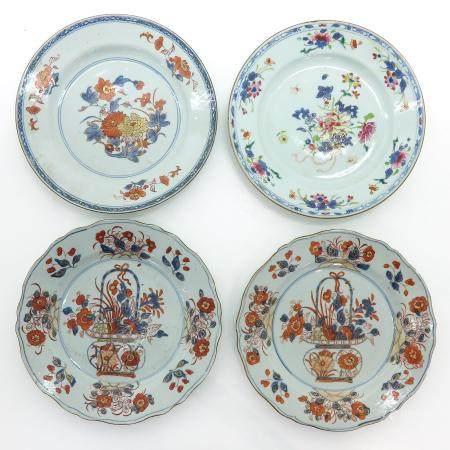 A Series of Four Imari Plates