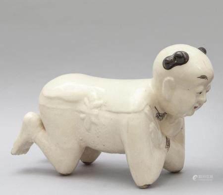 Cuscino in ceramica raffigurante un servitore