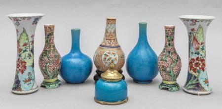 Coppia di vasetti in porcellana Compagnia delle