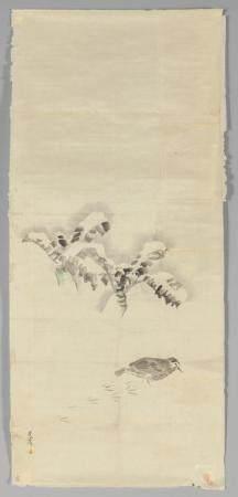 """Matzumura Goshun (1752-1811) """"Uccellino che"""