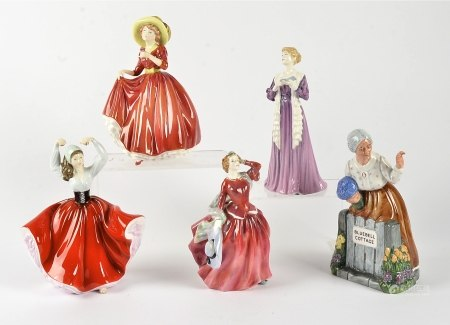 Royal Doulton figurines, HN2065 Blithe Morning, HN4466 The Recital (RDICC piece 2003 only), HN3376
