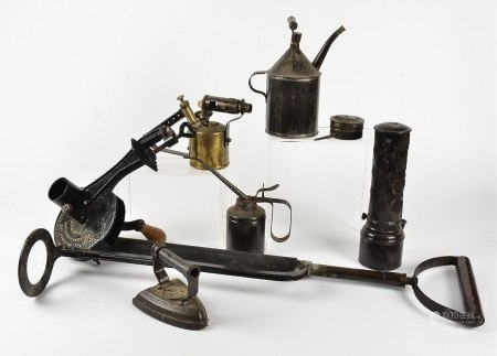 A cast iron Follows and Bate Ltd 'Rapid Marmalade Cutter', together with an Abol Syringe No. 4, '