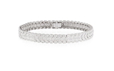 A DIAMOND BRACELET, set throughout with single-cut diamonds, mounted in 9K gold, length 18.3cm