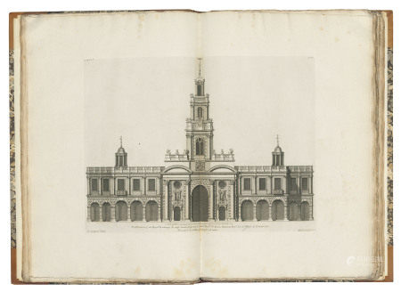 CAMPBELL, Colen (fl. 1715-1729). Vitruvius Britannicus, or the British Architect. Vols 1-3: [London: no date]; Vol. 4: [London:] Woolfe & Gandon, 1767; Vol. 5: [London:] Woolfe & Gandon, 1771.