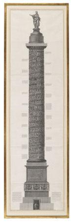 PIRANESI, Giovanni Battista (1720-1778). [Two large engraved plates of Roman columns]. [Rome: c.1774-1776].
