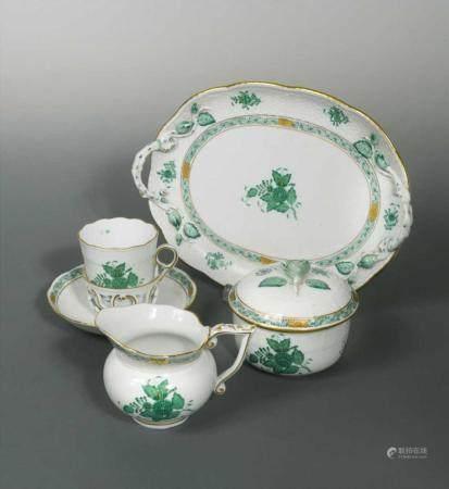 A Herend porcelain tea service,