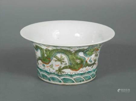 A Chinese porcelain dragon bowl, Guangxu (1875-1908) Qing Dy