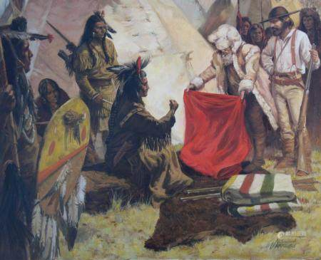 "Shannon Stirnweis (B 1931) ""Trading w the Indians"""