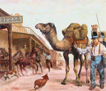 "Shannon Stirnweis (B. 1931) ""The Camel Corps"""