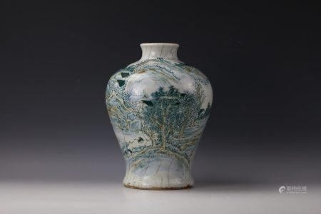 A  Chinese Famille Rose Meipin Vase