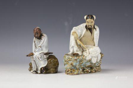 Two Shiwan Porcelain Statues