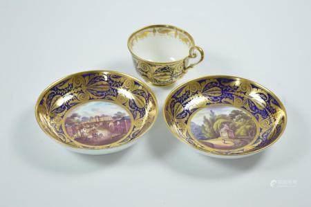 A Group of Gilt Enamel Porcelains