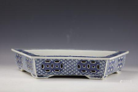 Chinese Blue and White Narcissus Bowl