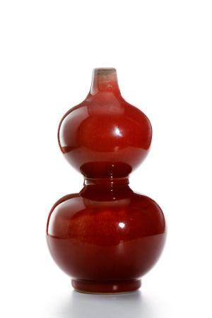Chinese Oxblood Double-Gourd Vase