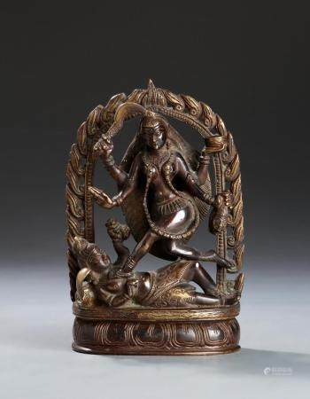 Chinese Tibetan Bronze Figure of Gautama