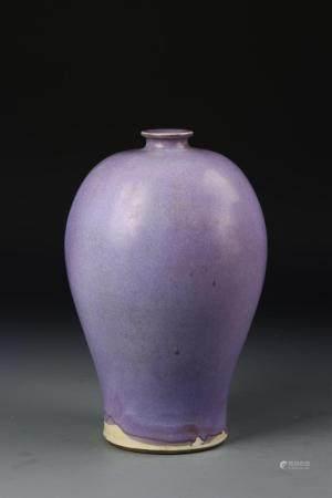 Chinese Jun Type Meiping Vase