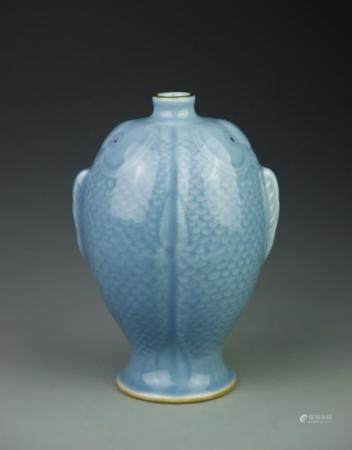 Chinese Celadon Double Fish Vase