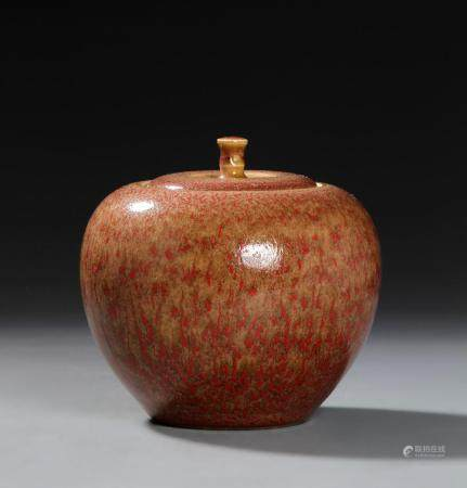 Chinese Peachbloom Jar and Cover
