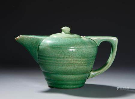 Chinese Green Crackle-Glazed Teapot