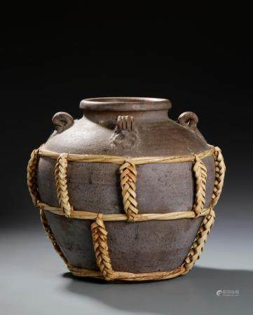 Chinese Brown Glazed Jar