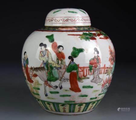 Chinese Famille Verte Ginger Jar