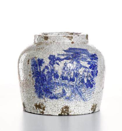 Chinese Chaozhou Blue and White Jar