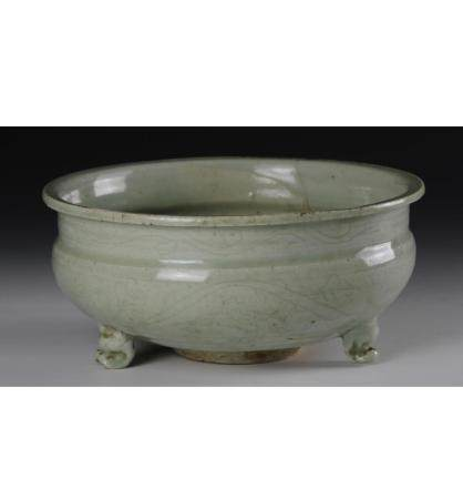 Chinese Longquan Ware Tripod Censer