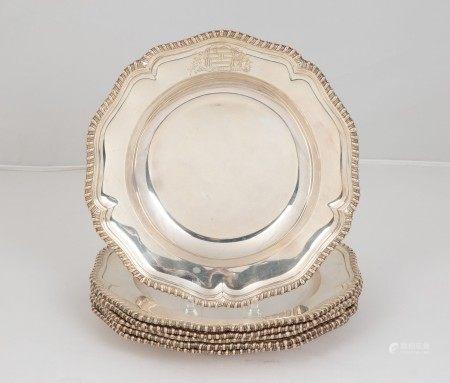 R. Garrard Sterling Silver Soup Plates