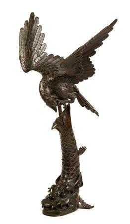 Japanese Bronze Eagle and Dragonfish