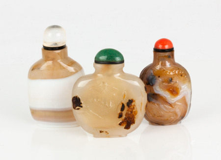 Group of Chinese Agate Snuff Bottles