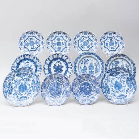 Group of Chinese Blue and White Porcelain Plates