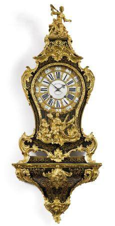 BOULLE CLOCK ON PLINTH