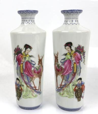 A Chinese Falangcai Enamelled Vase