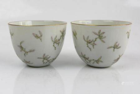 A Pair of Chinese Famille Rose Cups,